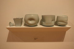 Four Cups (Slow Little Photo) Tags: college campus ceramics gallery exhibit photosofart photographingart