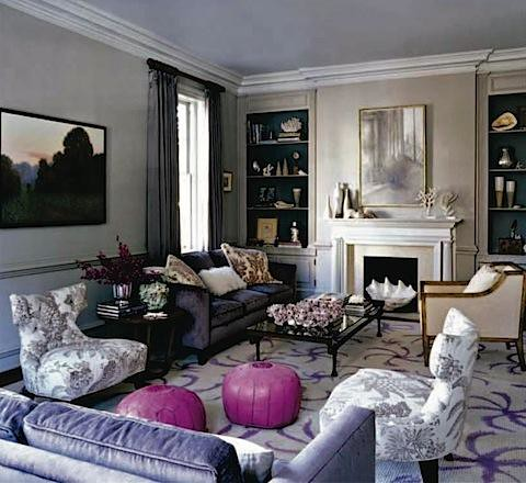 pink purple - elle decor