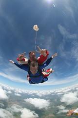 OUTLAW - Pedrao e Joao by Sangue (SangueB) Tags: brazil alex brasil skydiving salto skydive livre sangue outlaw freefall duplo boituva paraquedas queda paraquedismo adelmann testdummies sangueb