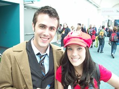 Mario meets... another Doctor (pwopa wok n woll) Tags: girl cosplay who 10 dr nintendo july mario doctor bbc ten comiccon luigi 2010 supermariobros sandiegocomiccon