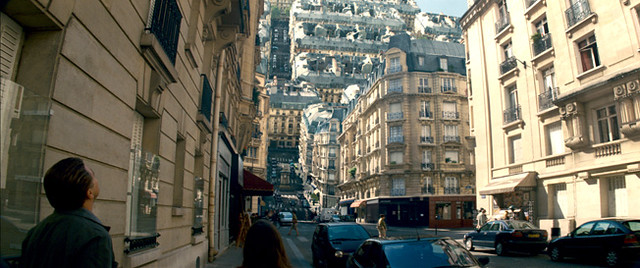 A Parisian dream world folds in on itself in 'Inception'.