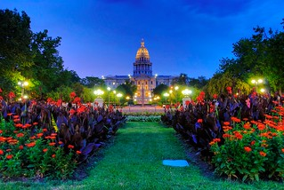 Blue hour, golden dome