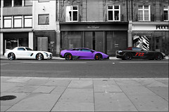 Trio (Alex Penfold) Tags: summer slr london cars alex sports car canon photography mercedes benz photo cool purple shot image awesome picture fast super exotic photograph arab mclaren lamborghini supercar sv matte sls exotica amg 2010 supercars combo   murcielago arabs penfold         450d     hpyer