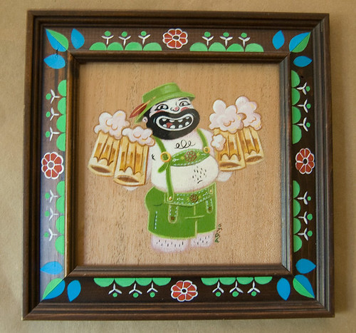 Prost! With Custom Frame for Lunar Boy Beer Show