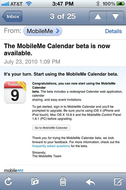 Mobile Me Beta