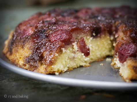 Cherry Cornmeal Upside Down Cake 3