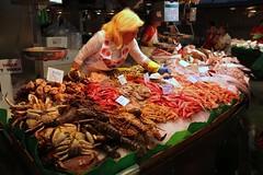 Seafood at La Boqueria (nizzerbean) Tags: barcelona spain market seafood laboqueria