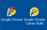 Google Chrome and Canary Build
