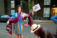 Sarah and her Amazing Technicolour Scarves (mrlerone) Tags: birthday pub celebration booze scarves charleslamb
