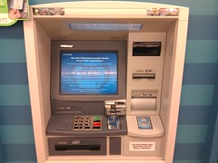 Chase ATM out of service - card reader flashin...