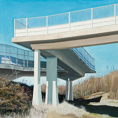 chippenham footbridge in oil (Will White 21) Tags: urban tower art painting industrial footbridge contemporary structures oil oilpainting realism photorealism willwhite superrealism willwhite21