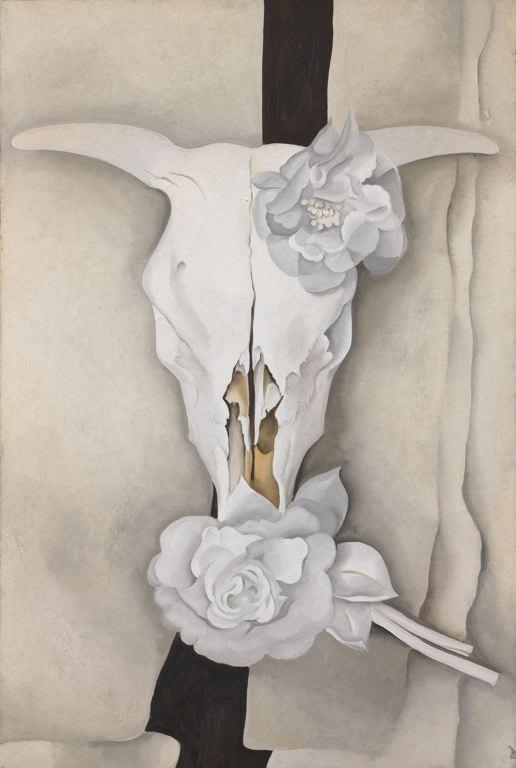 Georgia O'Keeffe - cow's skull with calico roses, 1931