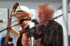 Doc Watson and David Holt (@harryshuldman) Tags: park ri david festival canon island photography rebel george concert adams state fort folk performance harry july august newport watson holt dslr doc rhode wein 2010 folktacular t1i shuldman