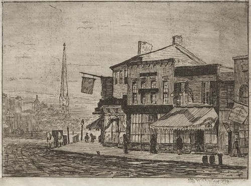 Cleveland, Woodland Avenue and Eagle Street (1878)