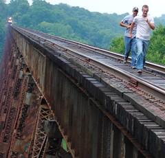 Crossing Tulip Trestle on the Indiana Rail Road |