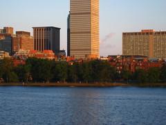 IMG_5099 (kz1000ps) Tags: city cambridge sunset urban tower boston skyline architecture skyscraper golden massachusetts charlesriver potd hour johnhancock prudential backbay memorialdrive