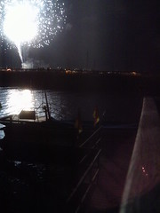 Fireworks over the lake in St. Ignace