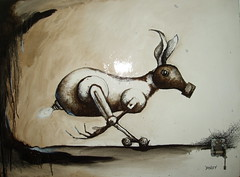 Oil sketch with ink (Bryn Oh) Tags: music ink paint with box oil oh bryn rabbicorn immersiva
