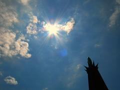Sunlight at Our Lady of Fatima Shrine (Loci Lenar) Tags: sky usa sun clouds photography colorful catholic image nj images blogs photoblog bloglines feed christianity feeds warrencounty ourladyoffatima catholicshrine bluearmyshrine washingtonnj miracleofthesun worldapostolateoffatima