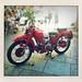 Red Moto Guzzi Falcone