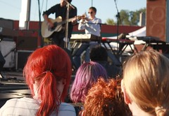 So Colorful... (itsjessie) Tags: show red people orange colors contrast hair weird concert eyes different purple bright guitar unique live stage connor blonde indie dye oberst concertforequality