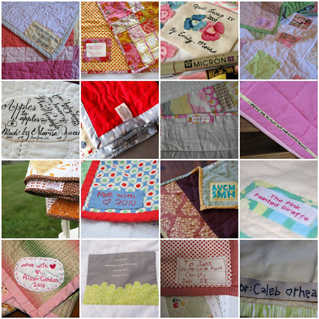 Woolgathering Mosaic: Quilt Tags