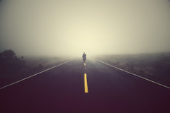 Untitled (Shahriar Erfanian) Tags: road fog walking approach middleofnowhere twtmeiconoftheday shahriarerfanian