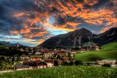 Berwang, Austria (To Uncertainty And Beyond) Tags: sunset sky mountains alps grass clouds bavaria austria village roadtrip tyrol hrd romanticroad berwang sunsethdr tyrolmountains mountainhdr tyrolalps berwangaustria
