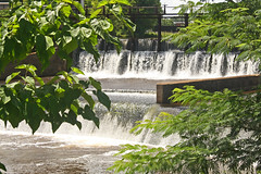 As Water Flows (brooke .) Tags: trees summer hot green love nature water beautiful leaves outside flow outdoors photography waterfall scenery peace accident dam july happiness heat flowing lovely recycle tragic murky humid reuse marquise imissyou reduce gogreen kyul joesteelo