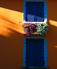 Colors of Provence (jean-marc rosseels) Tags: blue windows orange france flower colors balcony shutter provence fentre couleur volet