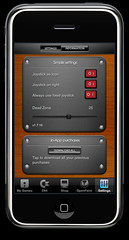 Settings screen in Commodore 64 for iPhone 1.7