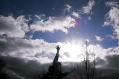 * (melissa ) Tags: blue cloud self touchthesky