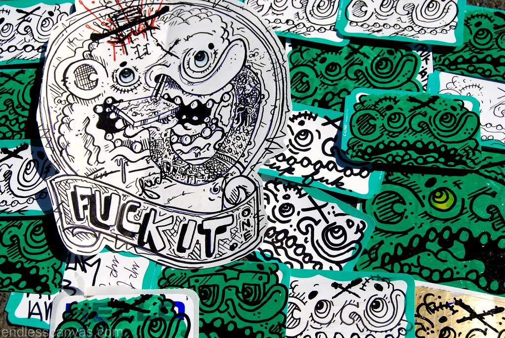 Up Fuck It Sticker now available.