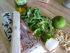Soba Nudeln mit Pesto