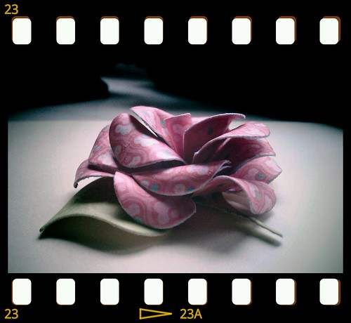 Sculpted paper rose