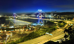 Tsing Ma Bridge, Hong Kong (Joey L.) Tags: sunset night canon hongkong hong kong 7d   efs 1022 tsingma tsingmabridge  hongkongphoto