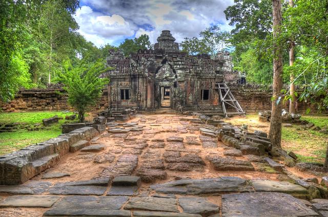 Angkor Wat Temple Doors HDR