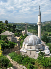 Mosque, minaret, watch tower, Poitelj, Bosnia and Herzegovina (Paul McClure DC) Tags: architecture scenery mosque historic herzegovina ottoman islamic poitelj bosniaandherzegovina june2010