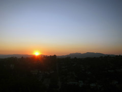 August 8 2010 Sunset viewed top of Baxter Stairs, Elysian Heights, 90026 (andysternberg) Tags: california blue sunset sky landscape losangeles dusk hollywood echopark elysianheights