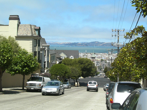view of San Francisco Bay from Steiner Street