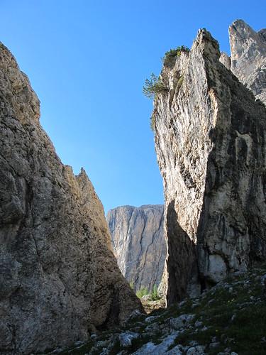 Klamm am Pisciadú-Klettersteig
