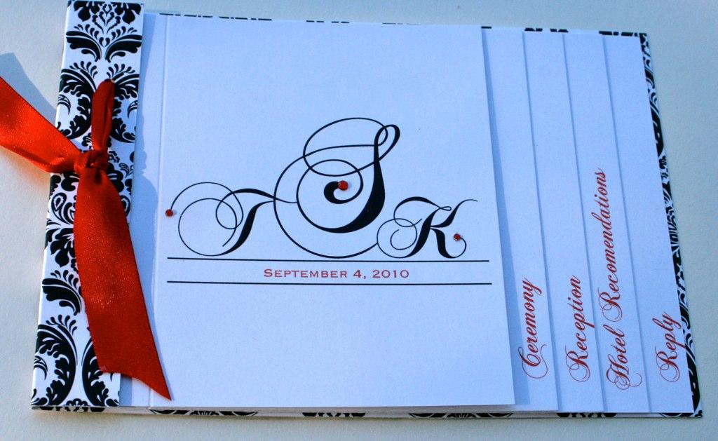 Damask Booklet Invitations