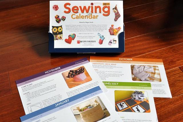 sewing calendar