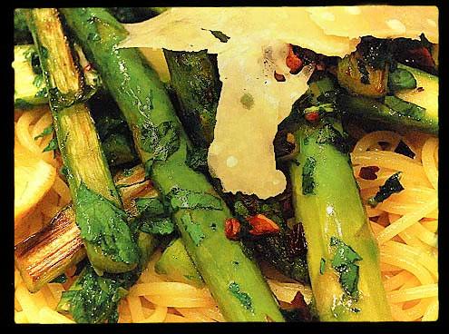 Asparagus with Spaghetti
