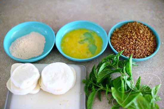 pecan crusted mozzarella salad