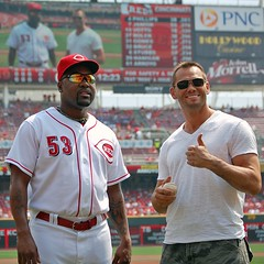 Rich Franklin at Cincinnati Reds
