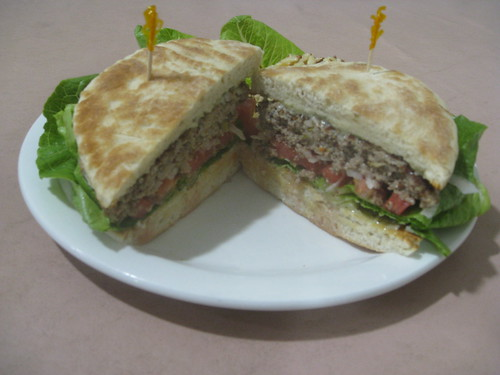 Jer's Kitchen - Franklin, North Carolina - Lamb Burger on Homemade Torta Bread