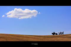The Palouse (djniks) Tags: tractor field washington farm wheat harvest stephen eastern rollinghills lonelycloud palouse nikky easternwashington canon70200f28 canon40d nikkystephen