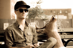 guy hat sunglasses brooklyn head taxidermy deer