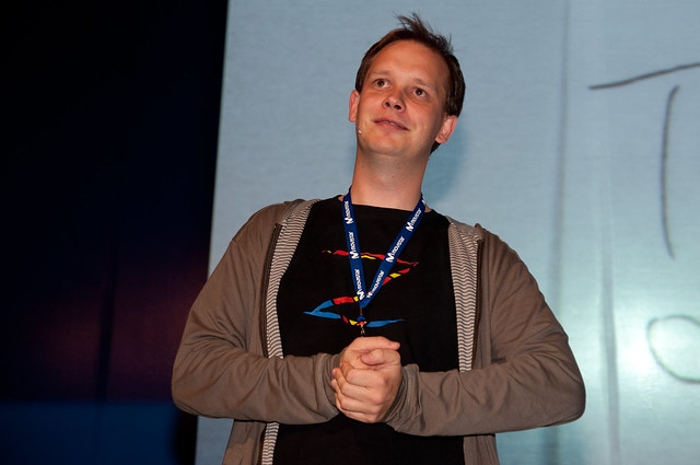 Peter Sunde en Campus Party México TPB